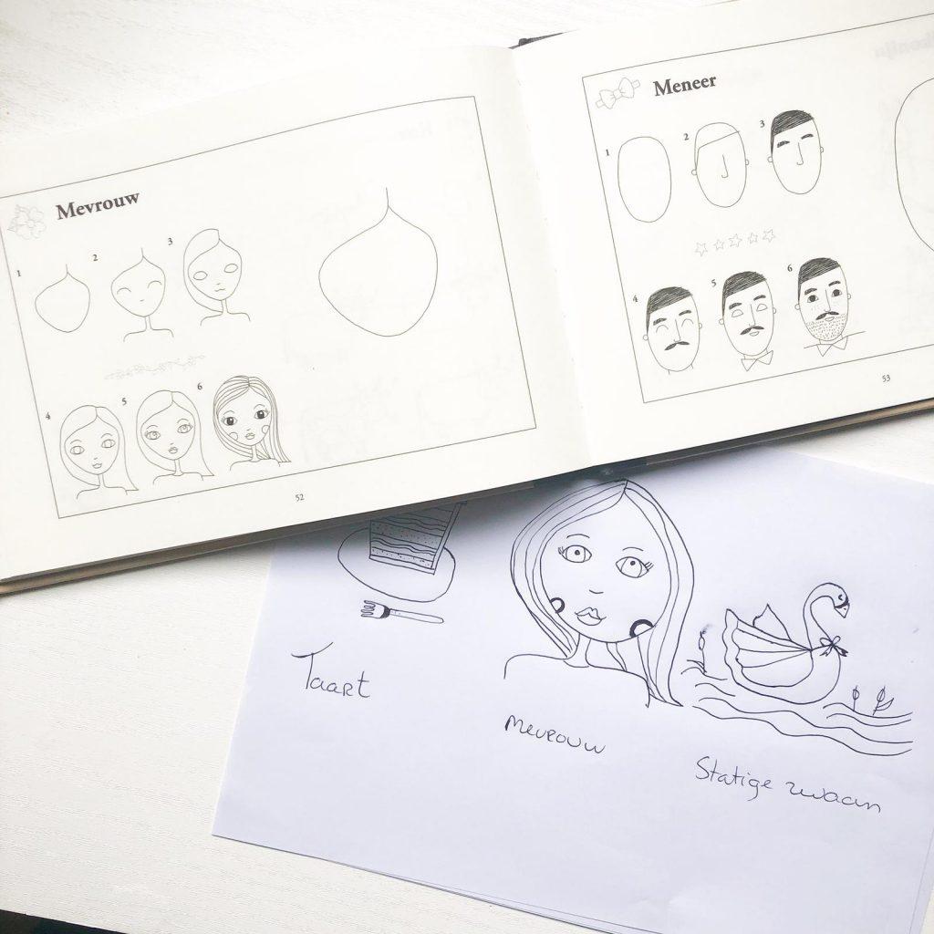 Het eerste stap voor stap teken boek