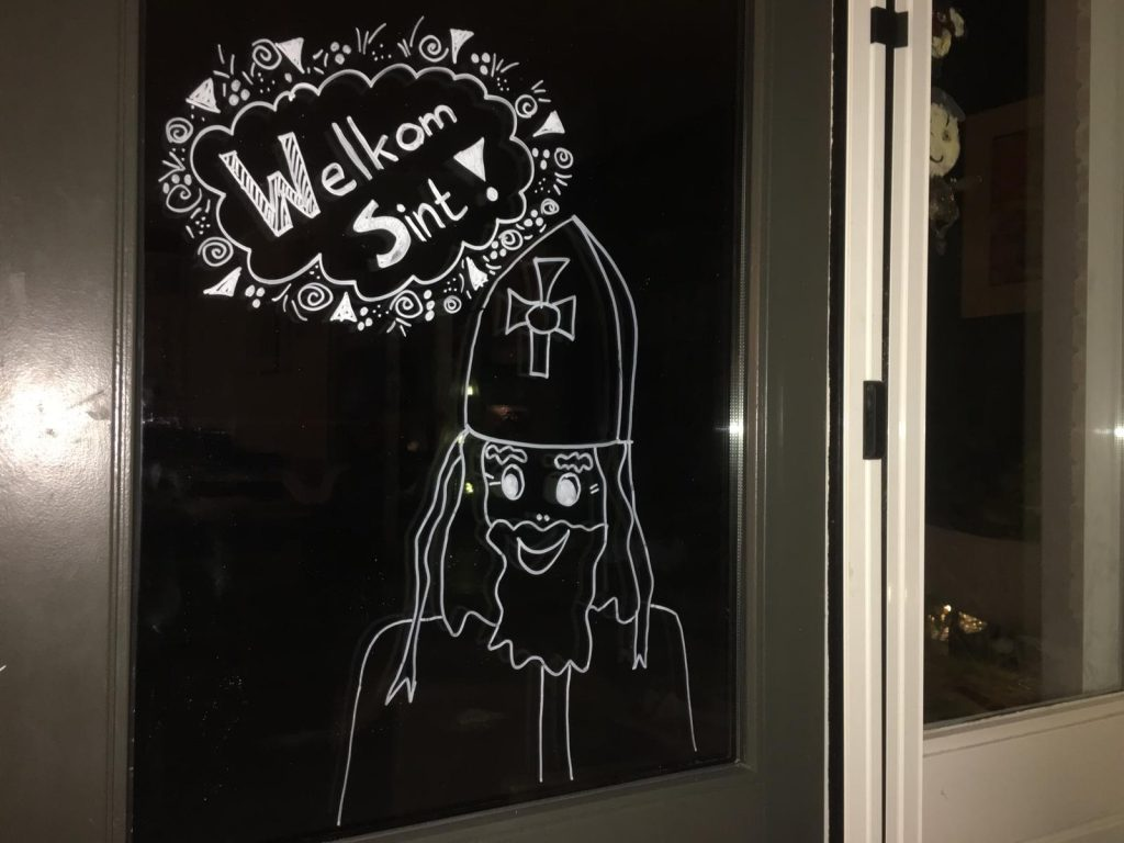 Sinterklaas raamtekeningen maken