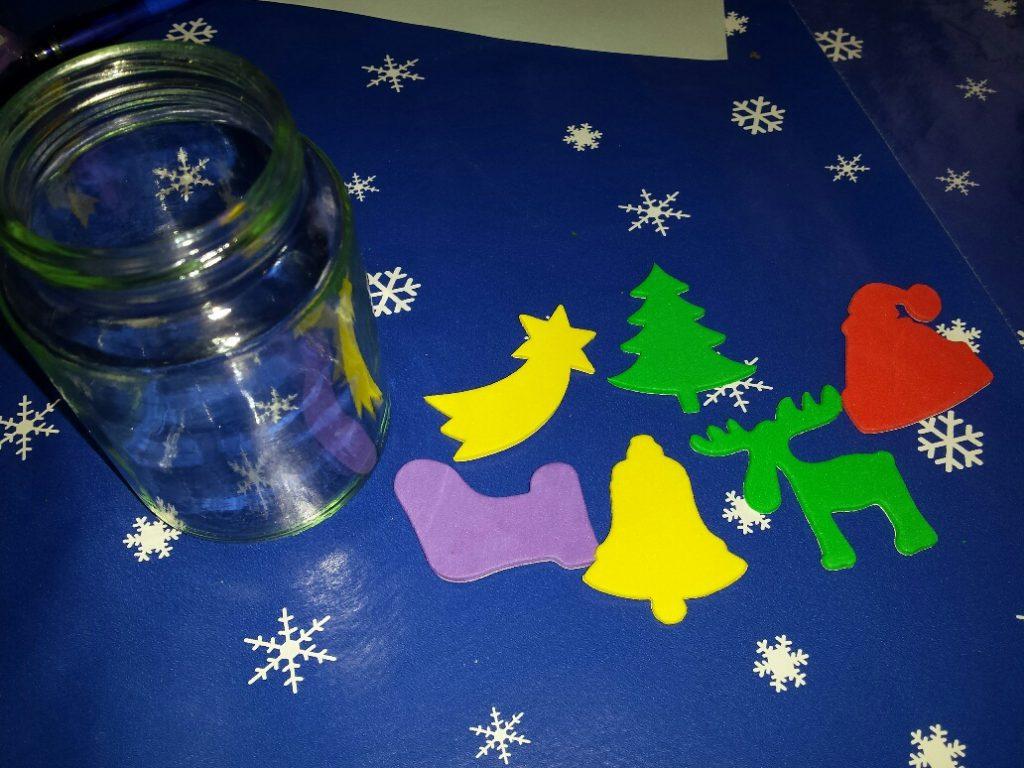 Kerstknutsels met foamstickers