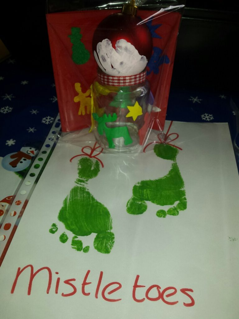 kerstknutsel met handen en voeten