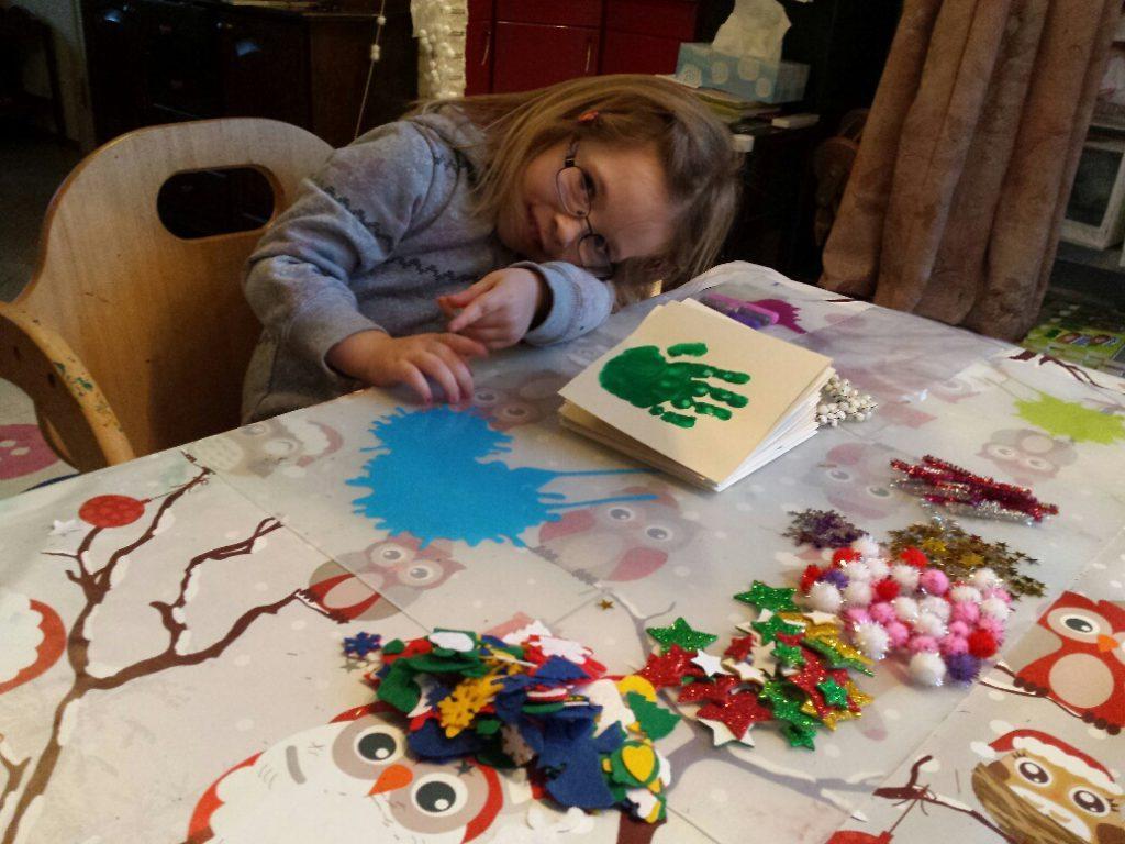 Kerstkaart maken met kinderen