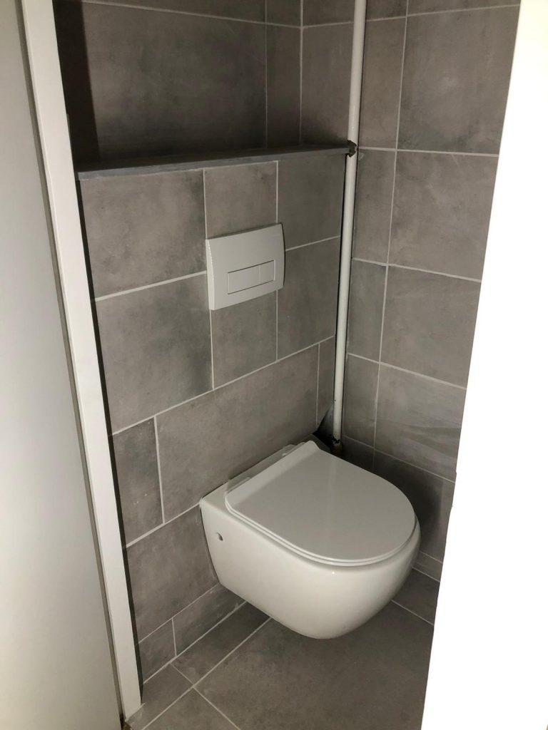 Badkamer renovatie voor en na foto's