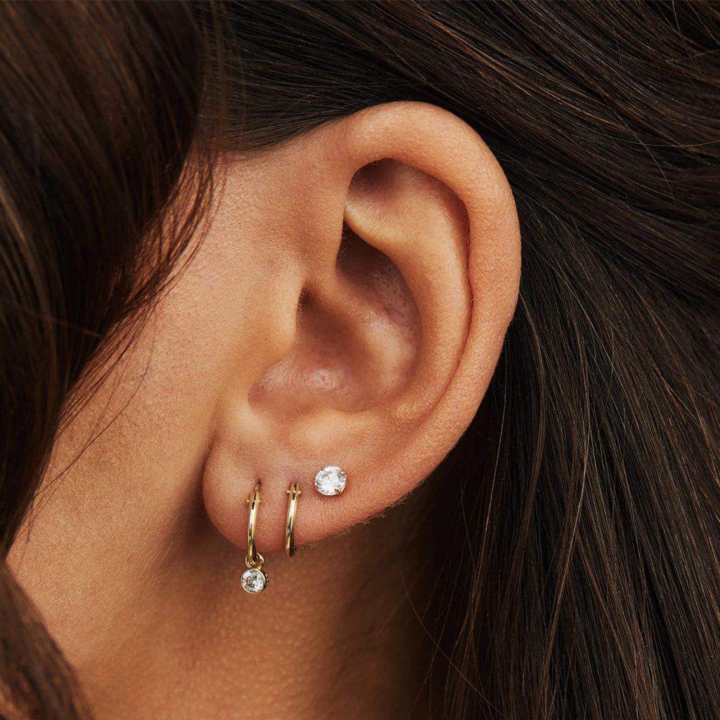 oorbellen van goud