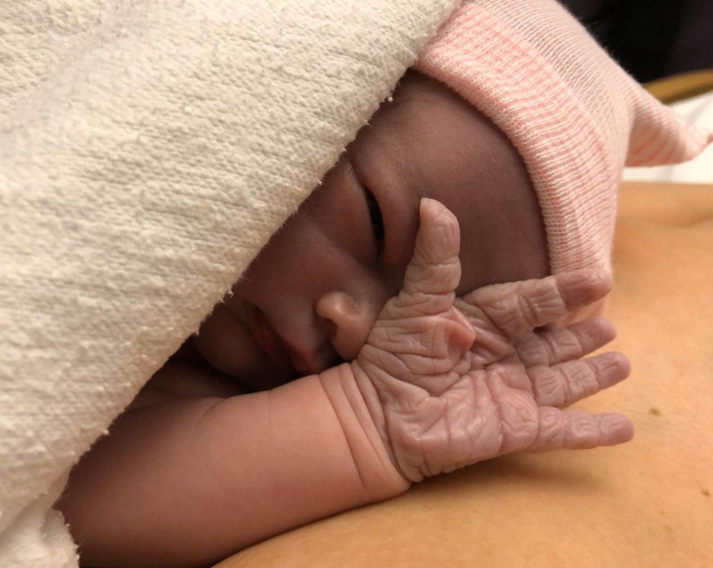 gwen baby bevalling