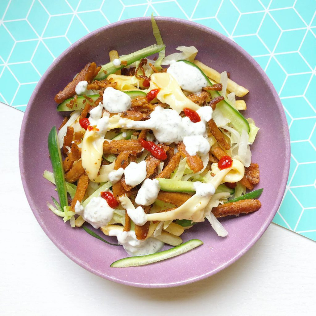 gezonde vegan shoarma kapsalon