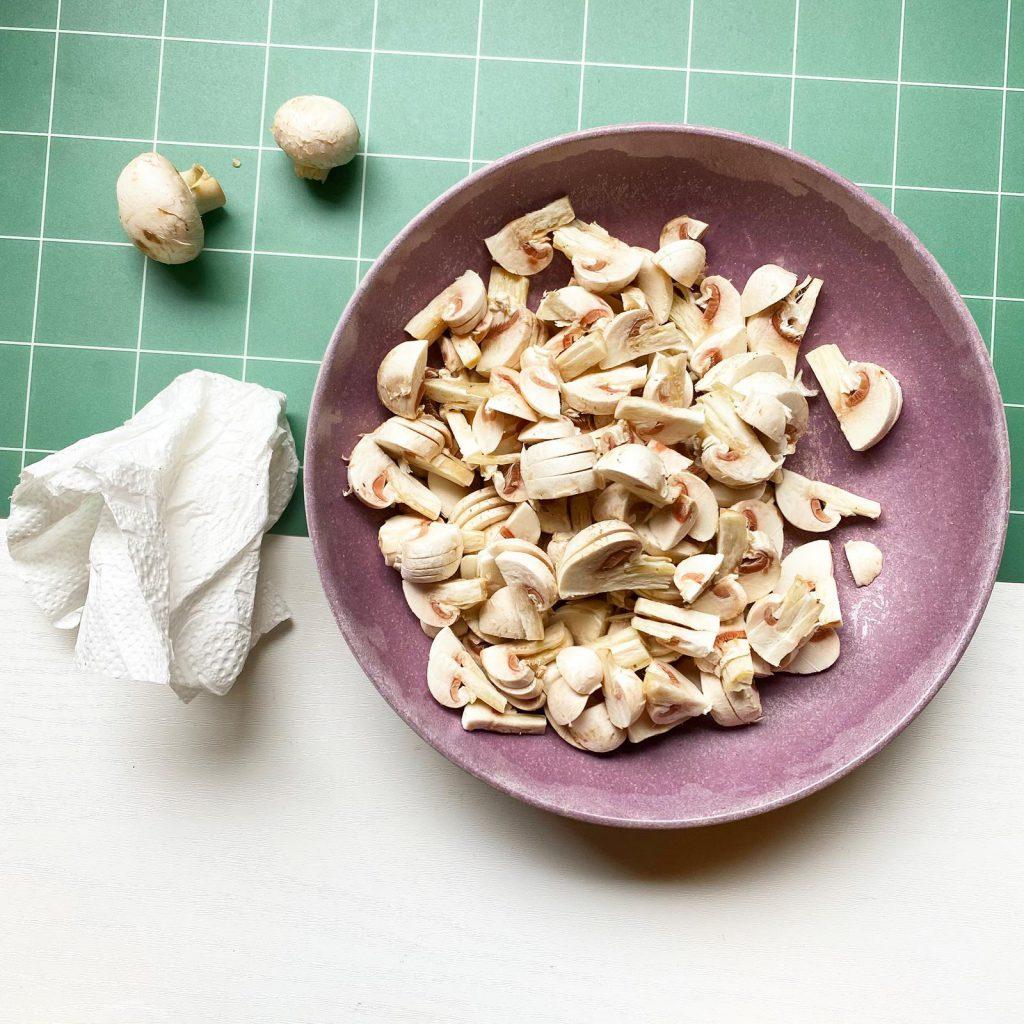 Een gezond en eenvoudig roomsaus recept champignons