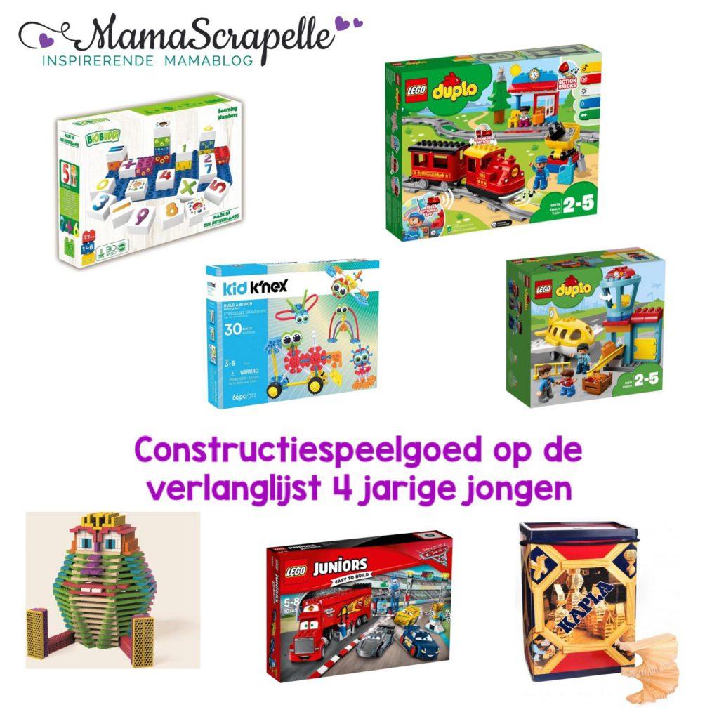 constructie speelgoed verlanglijst 4 jarige jongen