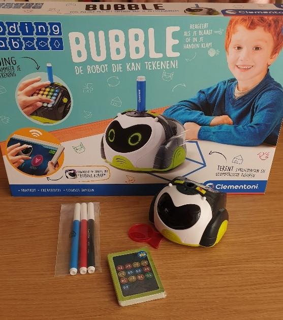 Bubble tekende robot
