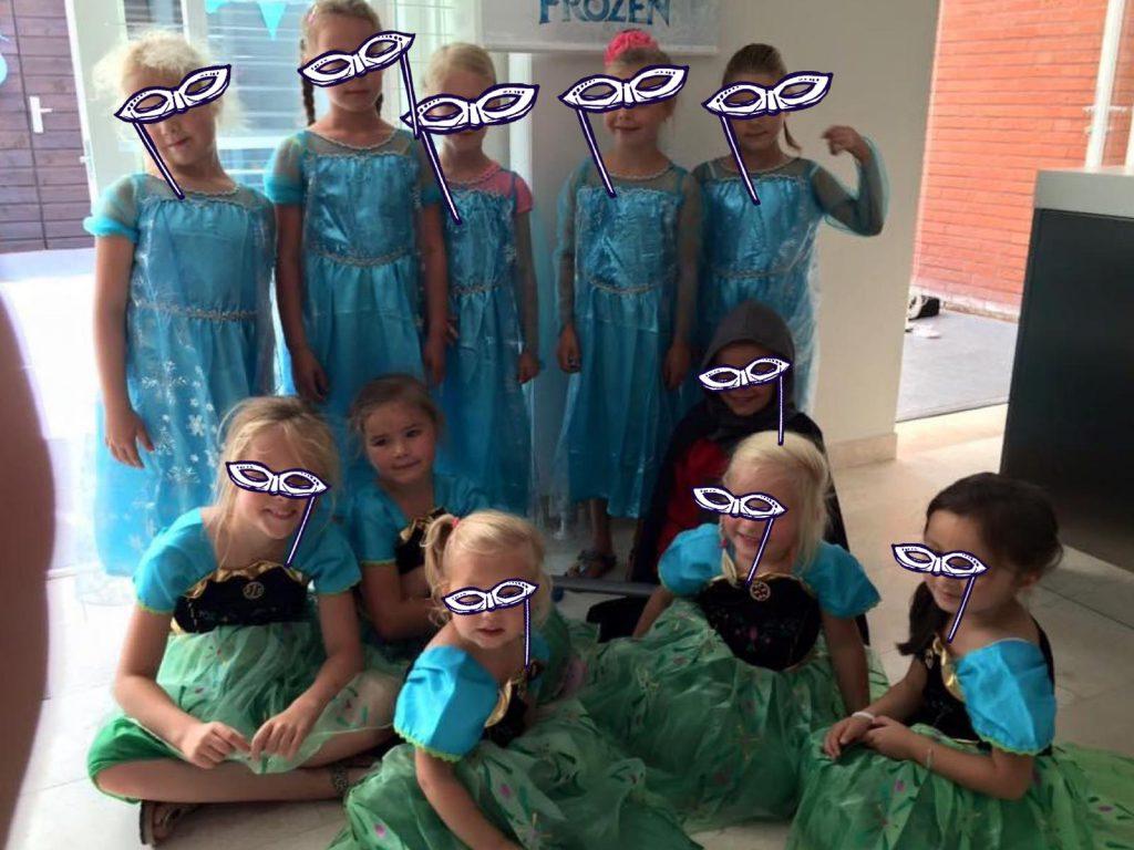 Kinderfeestje in de zomer