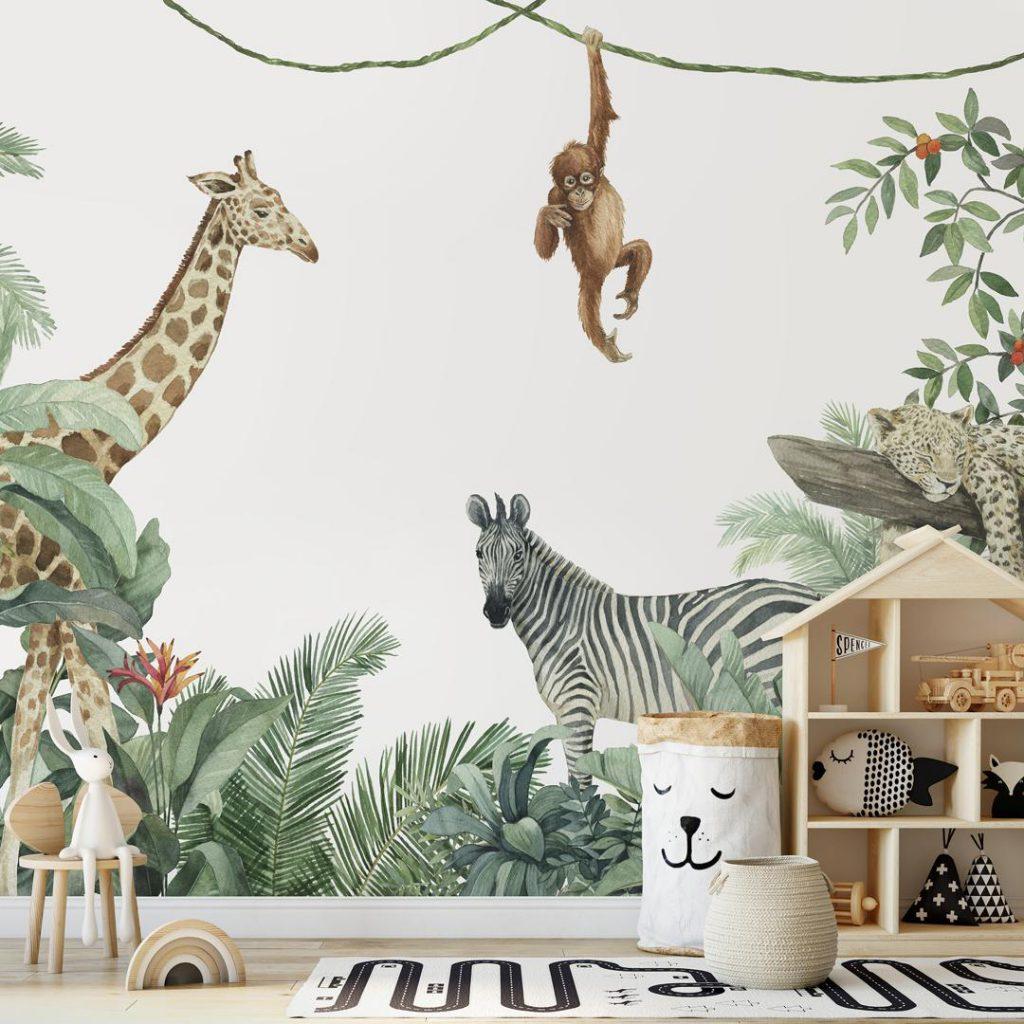 inrichten van de kinderkamer jungle
