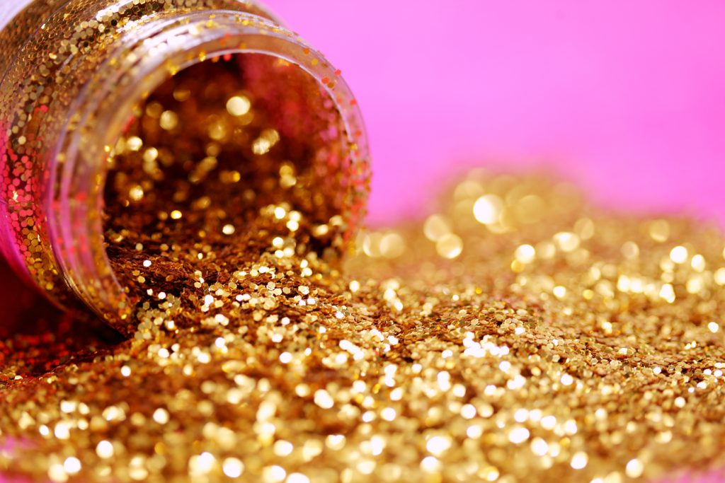 kinderfeestje met glitters