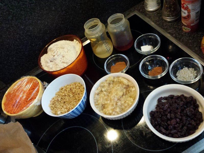 ingredienten suikervrije worteltaart