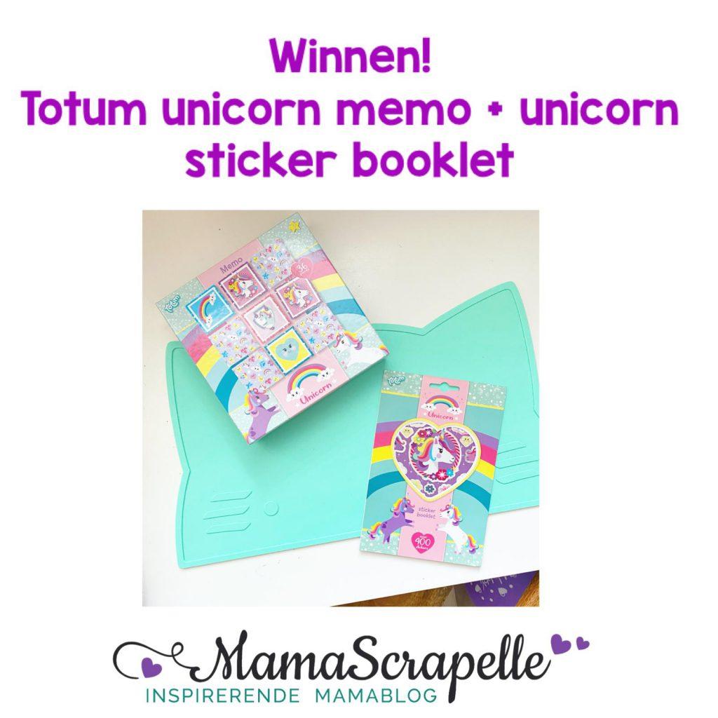 winnen Totum unicorn memo en stickers