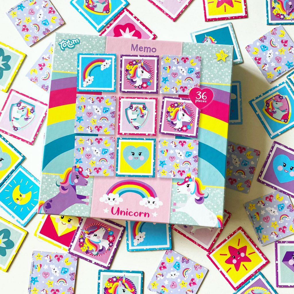 Totum unicorn memo en stickers
