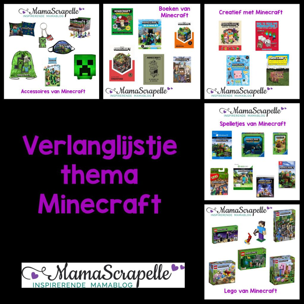 Verlanglijst thema Minecraft