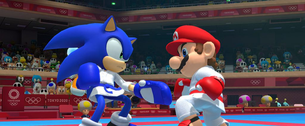 Mario en Sonic boksen