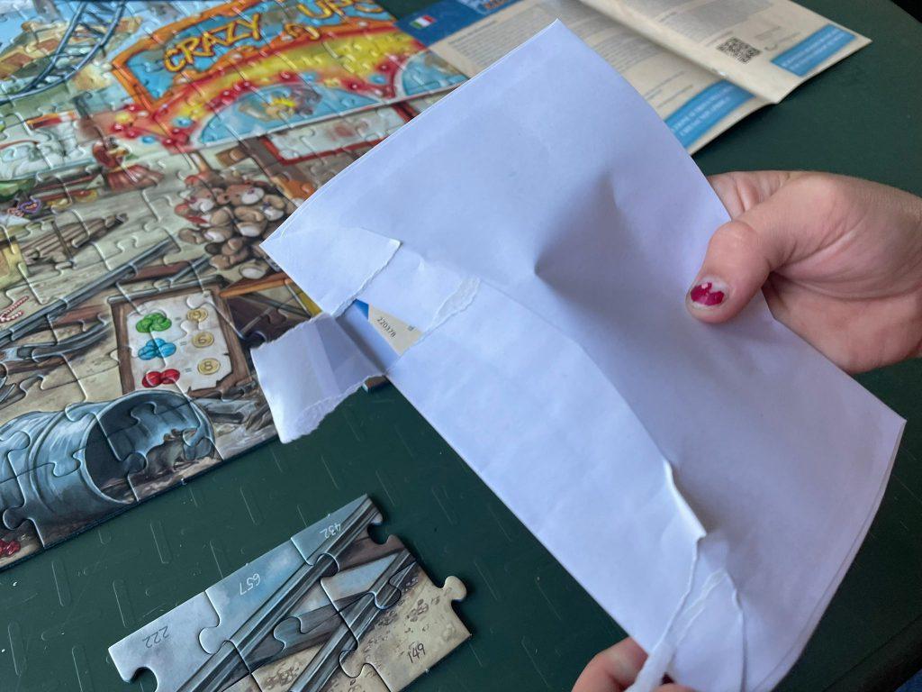 Oplossing envelop escape puzzle
